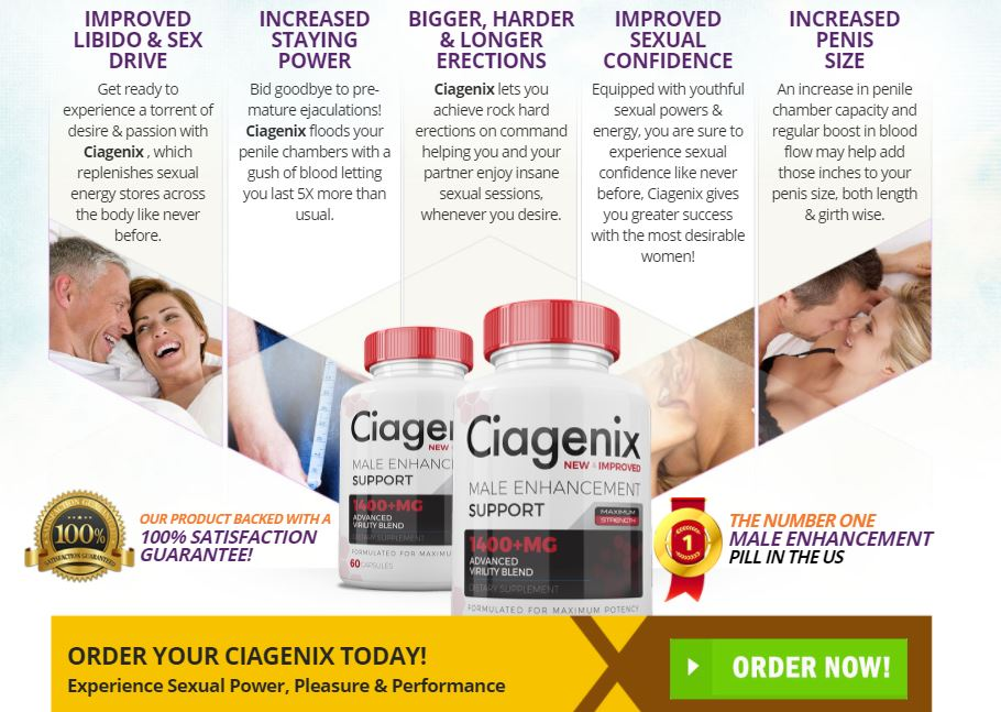 Ciagenix Male Enhancement benefits